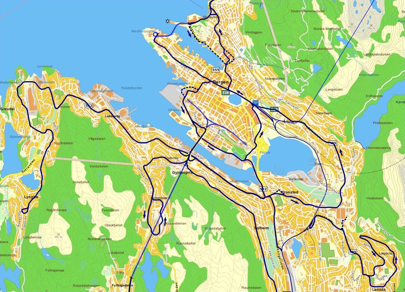 bergen bydeler kart Et lokalbanenett for Bergen bergen bydeler kart