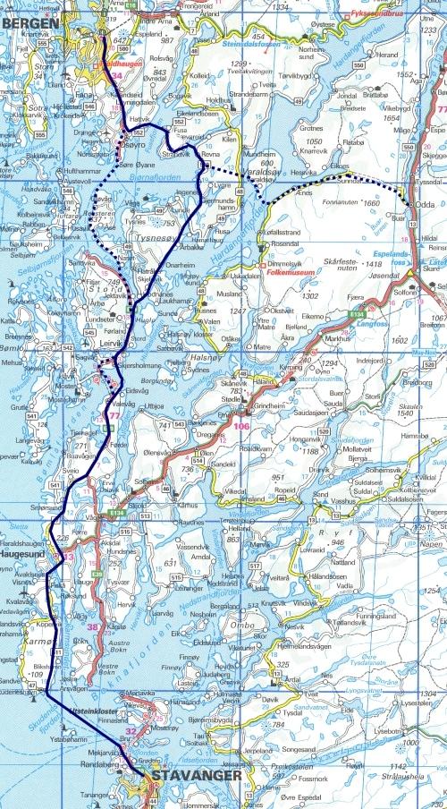 bergen trikk kart Bergen Stavanger bane bergen trikk kart