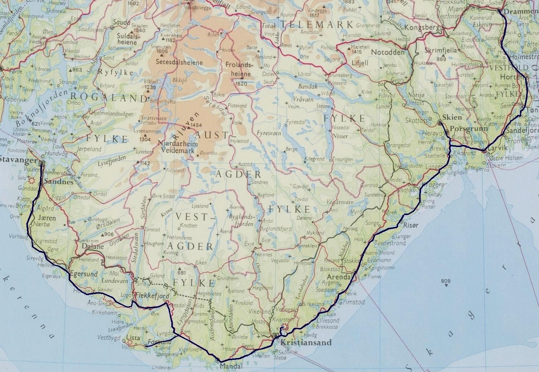 sørlandsbanen kart Kystbane sørlandsbanen kart